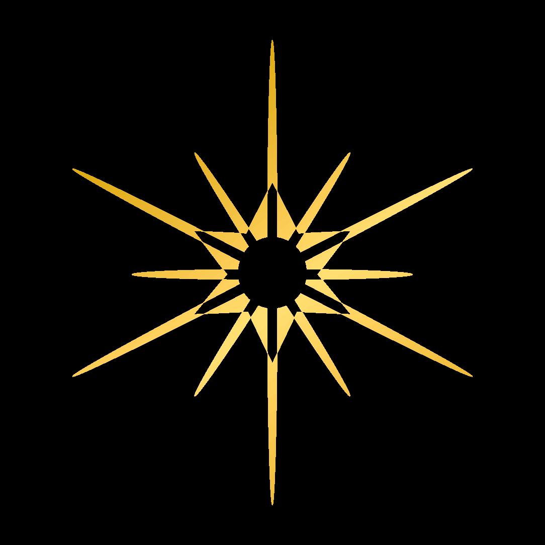 Das Symbol von LAMETTA LOVE, ein Stern, ein bekannter Weihnachtsschmuck