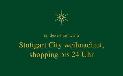 Stuttgart City weihnachtet